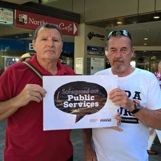 The latest Public Service cuts worry these two Townsvillians. CSIRO climate change expertise gutted. Bureau of Meteorology positions axed. They feel safer with the CSIRO and BOM then Turnbull.