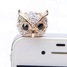 MobilePick® Cute Crystal White Night Owl Pattern Anti Dust Plug Stopper / Ear Cap / Cell Phone Charms for Apple iPhone 6 6 Plus,Iphone 5 5S,iPhone 4 4s ,iPad Mini iPad air ,iPod Touch 5 4,Samsung Galaxy S3 S4 Note3 Note 2,HTC and Other 3.5mm Earphone Jack Phones+ Cleaning Cloth MobilePick http://www.amazon.com/dp/B00RJV694Y/ref=cm_sw_r_pi_dp_x0Lxwb1F1B140