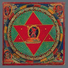 Mandala plate of Vajrayoginī According to the System of Eleven Yogas, Tibet; 18th century, Pigments on wood. © Rubin Museum of Art, New York