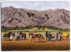 Affirmed photo from oil painting 1979 Santa Anita Handicap Horse Racing | eBay