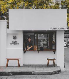 Small Coffee Shop, Coffee Shop Bar, Coffee Store, Cafe Shop Design, Coffee Shop Interior Design, Cafe Restaurant, Restaurant Design, Cafe Concept, White Cafe