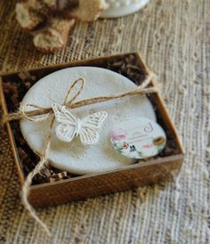 Clay Butterfly Gift Tag Wedding Favor Tag Mini Hang Tags Bridal Bouquet Charm Wine Charms Packaging Tag Vintage Cottage Chic Wedding Theme by unconventionalJ on Etsy