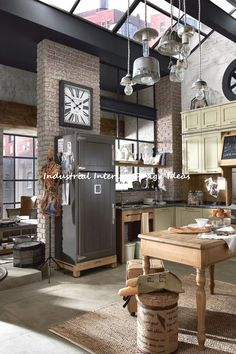 Best inspiration industrial interior design for your home de Home Decor Kitchen, Kitchen Decor, Interior Design Kitchen, Contemporary Kitchen, Home Decor, Industrial Interiors, House Interior, Home Interior Design, Industrial Home Design