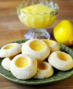 Meyer Lemon Curd Thumbprint Cookies - Baking Bites