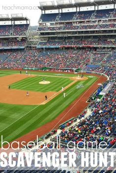 baseball game scavenger hunt: fun for kids during the game