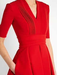 Preen By Thornton Bregazzi Elle stretch-cady dress Beautiful Casual Dresses, Elegant Outfit, Elegant Dresses, Winter Fashion Outfits, Colourful Outfits, Dress To Impress, Dress Outfits, Designer Dresses, Chiffon