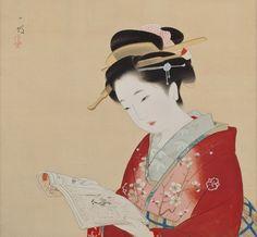 伊藤小坡 -《草双紙》                      Picture Book, by Ito Shoha (1877-1968, Japanese painter )