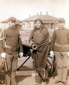 Captured Indian Plenty Horse, the slayer of Lieutenant Casey, near Pine Ridge, South Dakota. 1891