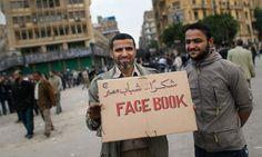Exipto 2011. Protestando e reivindicando FB como ferramenta para protestar.