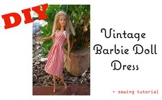 6562cf3b44c5 Make and sew a Vintage Barbie Doll Dress Sewing Barbie Clothes, Barbie  Sewing Patterns,