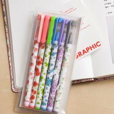 Floral Pen Set