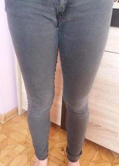 Szare spodnie, dżins