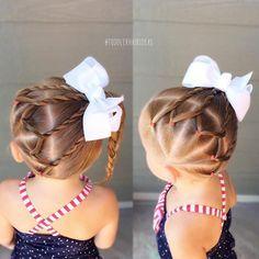 Peinados para niñas little girl hair Easy Toddler Hairstyles, Lil Girl Hairstyles, Cute Hairstyles For Kids, Princess Hairstyles, Pretty Hairstyles, Braided Hairstyles, Teenage Hairstyles, Updo Hairstyle, Prom Hairstyles
