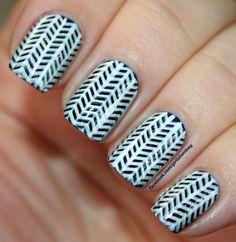 Herringbone nails