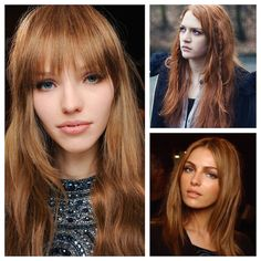Hair Color: Toasted Cumin Red Formula: (on natural level 7) Goldwell Colorance 1 part 8KG + 1 part 7KV + 1 part 7B with 2% Lotion This formula will take well over most shades level 6-9, but will appear brighter on level 8 and 9, and softer on 6 and 7.