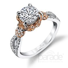 Parade Design Hemera Bridal Twisted Halo Split Shank Pave Ring Setting White Gold (Setting Only) Vintage Inspired Engagement Rings, Perfect Engagement Ring, Engagement Ring Styles, Rose Gold Engagement Ring, Designer Engagement Rings, Wedding Ring For Him, Wedding Rings, Pave Ring, Princess Cut Diamonds