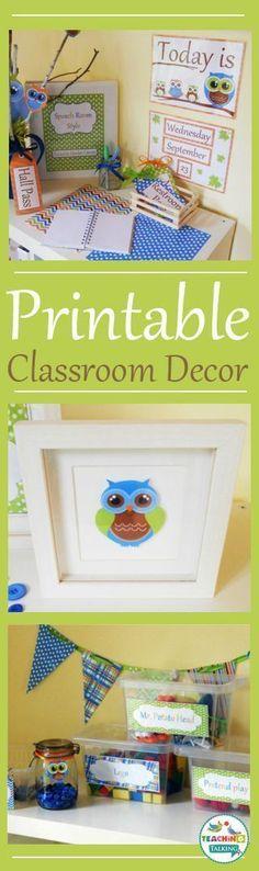 Printable decor ideas with a cute owl theme!