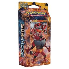 $12.69 CP160 Your adventure in a new region starts now! Explode with the fiery power of Incineroar! Add fuel to the fire with a fast-burning, fast-punching team built of pure power and aggression. Throwit all into the fight with the Roaring Heat theme Deck! In this box you will find: 60 Pokemon card deck, 1 card checklist, 1 metallic coin, 2-player playmat and rulesheet, 1 code card to play this deck online, 1 deck box, and damage counters.
