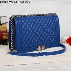 Replica Chanel 1:1 Quality Blue, Silver Hardware Original genuine leather Blue, Silver Hardware Famous Brand Handbags