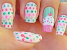 18 Cute Cupcake Nails - Fashion Diva Design