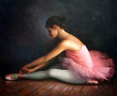 Posterlounge Canvas print 40 x 30 cm: Ballerina 1 by Yoo Choong Yeul - ready-to-hang wall picture, stretched on canvas frame, printed image on pure canvas fabric, canvas print Ballerina Painting, Ballerina Art, Wall Art Prints, Canvas Prints, Art Pages, Paintings For Sale, Oil Paintings, Picture Wall, Canvas Frame
