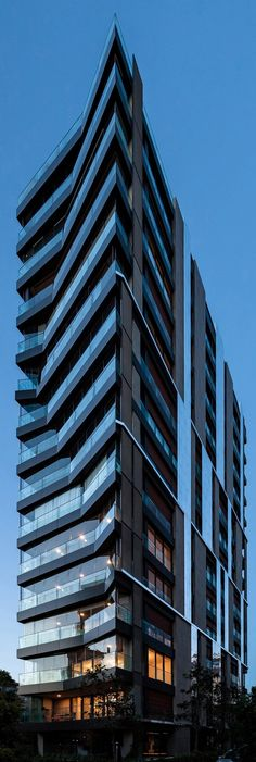 Arkvista Residence by Arkizon Architects Architecture Commercial Architecture, Futuristic Architecture, Facade Architecture, Amazing Architecture, Contemporary Architecture, Building Exterior, Building Facade, Building Design, Unique Buildings