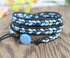 Super+Duo+Triple+Leather+Wrap+Bracelet+by+BearCreekCollection