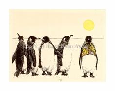 Penguins in the Sunshine by Nancy Dean Kreger www.nancydeankregerart.com