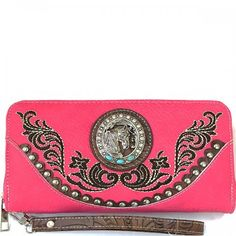 Western Horsehead Cancho Wristlet Wallet