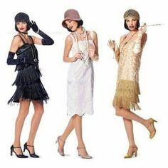 Elegant Gatsby Party Outfits Ideas You Must Try 11 Gatsby Outfit, Gatsby Dress, 1920s Dress, Gatsby Look, Gatsby Style, Flapper Style, Gran Gatsby, Roaring 20s Fashion, Great Gatsby Fashion