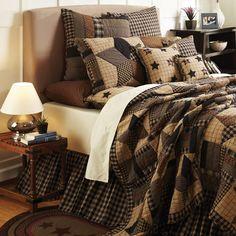VHC Brands Quilts | VHC Brands Bedding - Bingham Star Quilt Queen – Appleseed Primitives