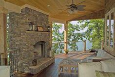 back porch on the Don Gardener home Outdoor Spaces, Outdoor Ideas, Outdoor Decor, Beautiful Dream, Humble Abode, My House, Porch, Pergola, Condo