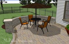 Cheap Backyard Patio Design with Grill Station | 395 sq ft | Download Installation Plan, How-to's and Material List @Mypatiodesign.com