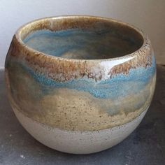 triskel_pottery - potter's choice tourmaline over oatmeal temmoku rim - List of the most creative DIY and Crafts Ceramic Sculpture, Glazes For Pottery, Ceramics, Clay Design, Amaco Glazes