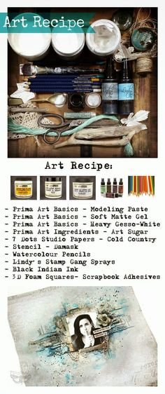 Finnabair: Art Recipe Wednesday: New Beginning