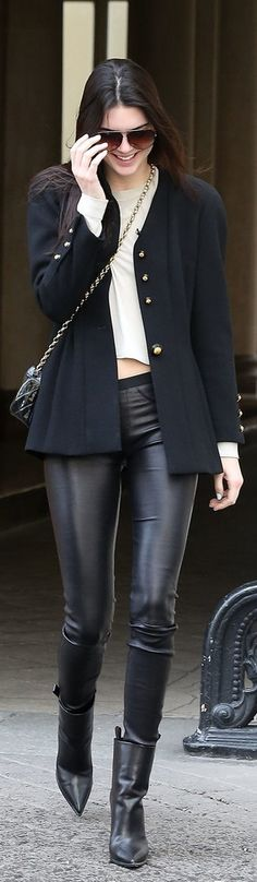 Kendall Jenner Knows There's No Limit to Leather