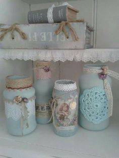 Cute way to reuse jars! Must do got a tonne left over.