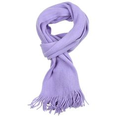 Purple Plain Tassel Scarf (4,07 BRL) ❤ liked on Polyvore featuring accessories, scarves, 32. miscellaneous accessories., purple scarves, purple shawl and tassel scarves