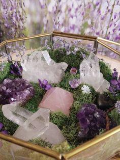 Terrarium  Healing Crystals  Terrarium Kit  by TheCrystalJypsy