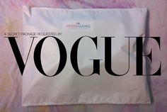 A secret package sent to Vogue. Solar Power, Behind The Scenes, The Secret, Vogue, Packaging, Solar Energy, Wrapping, En Vogue
