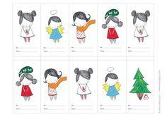Holiday Gift Tags. Collezione digitale. Mayi Carles di MayiCarles
