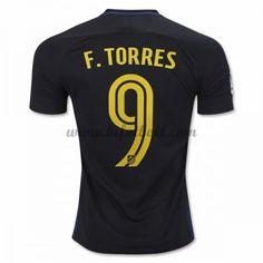 Billiga Fotbollströjor Atletico Madrid 2016-17 Fernando Torres 9 Kortärmad Borta Matchtröja