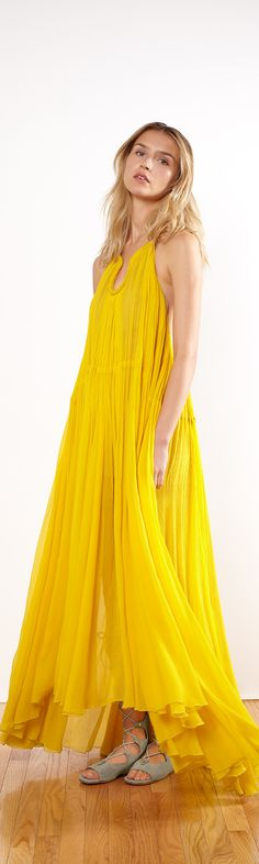 love maxi dresses and the yellow! would love it in other colors!
