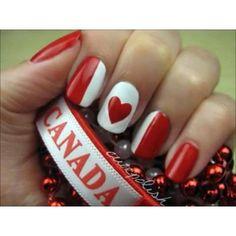 Canada Day Nail Art Lovely Nails lovely nails and hair Nail Art Diy, Cool Nail Art, Diy Nails, Love Nails, How To Do Nails, Pretty Nails, Canada Day, Holiday Nails, Seasonal Nails