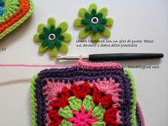 ElenaRegina wool: Portatutto fiorellosi Fiorelli, Crochet Handbags, Coin Purse, Crochet Patterns, Wool, Crafts, Anna, Throw Pillows, Craft