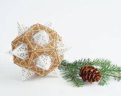 DIY Model Kit  for Geometric Orb Dodecahedron Design Sacred Geometry $28