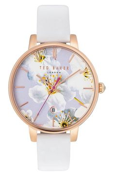 2a1f28dd4 Ted Baker Women s Three Hand Date Gold Multi White Watch
