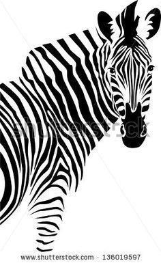 Zebra. Vector. - 136019597 : Shutterstock
