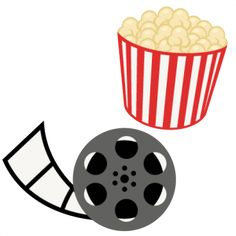 Popcorn Movie Reel Movie Night SVG scrapbook cut file cute clipart files for silhouette cricut pazzles free svgs free svg cuts cute cut files
