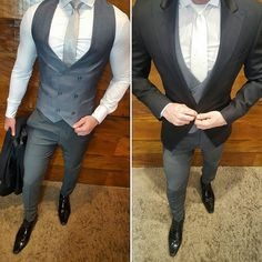 Blazer Outfits, Basic Outfits, Modern Outfits, Men's Outfits, Mens Fashion Suits, Fashion Outfits, Formal Men Outfit, Men's Waistcoat, Fashion Network